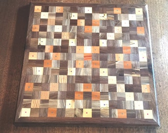 Custom Handmade Wooden Scrabble Board Mosaic