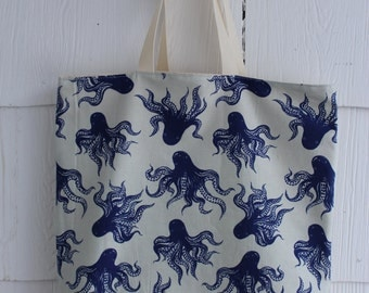 Octopus // Nautical // Blue // Tote Bag