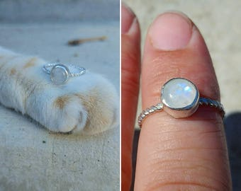 Size 6 moon stone ring