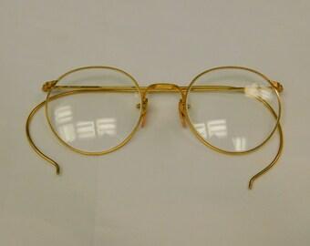 Gold Filled Antique Wire Frame Eyeglasses