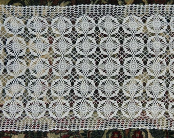 placemat, table runner. crocheted vintage