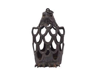 Vintage Cast Iron Japanese Eagle Candle Holder Lantern