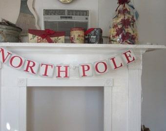 Christmas North Pole Banner Christmas Banner