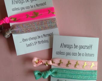 Unicorn/Mermaid tie sets /customizable birthday sets/favors