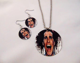 American Psycho Patrick Bateman Inspired Necklace and Earrings