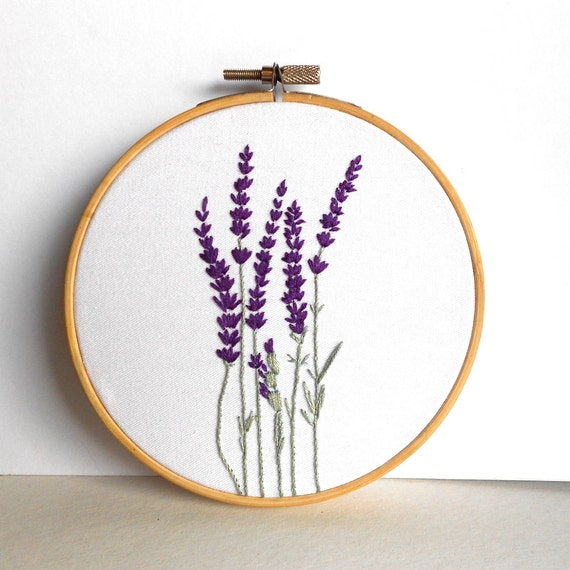 Flower embroidery hoop art floral wall rustic home decor