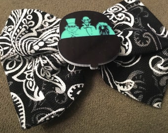 Disney Haunted Mansion Doonbuggy Ghost and Ghoul Handmade Hair Bow