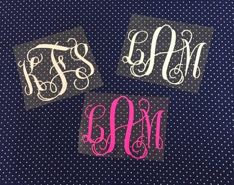 FREE SHIPPING - DIY Iron-on Monogram ... Interlocking Vine