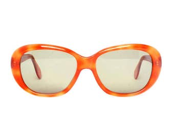 Orange vintage sunglasses - 1980s womens sunglasses - New from the 80s - retro holiday - sunnies for girls - model Flower - Clearance SALE