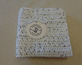 "Heavy Duty, X Large Washcloth (12 x 12 inches) Hand Crocheted Kitchen Cloth, Cleaning Cloth, 100% Cotton, ""Jane's Giant Tough Kitchen Cloth"""