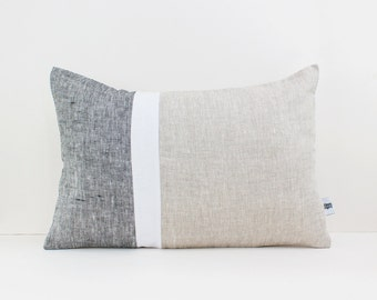 Black Linen Throw Pillows : Linen throw pillows and decorative cushion by LinenandStripes