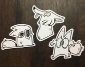 Anxiety Fox Stickers