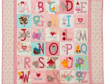 ABC Girls Quilt Pattern Only | Red Brolly | Girl's Quilt Pattern