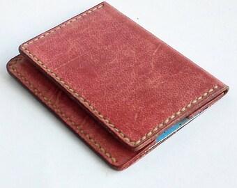 minimal card wallet, Slim leather card wallet, mens wallet slim, front pocket wallet, leather card wallet, bifold leather card holder, EDC