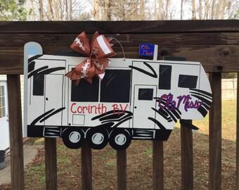 Ole Miss RV Camper Wooden Door Hanger