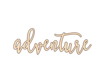 Adventure - Laser Cut Wood Word - 180129