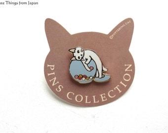 NEW Pottering Cat Fishing Pin, Kawaii