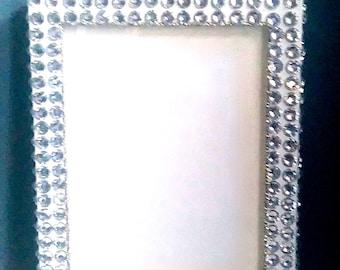 Silver Embellished Photo Frame