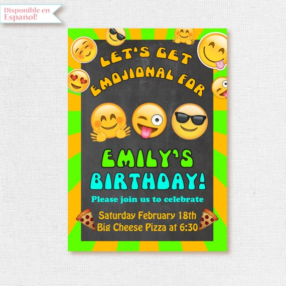 Birthday Party Printable Emojis
