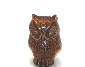 Vintage Owl Figurine, Home Decor, Collectible, Vintage Owl, Ceramic Owl, Brown Owl Decor, Figurine, Home Decor, Collectible Owl, Figurines