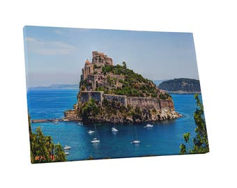 Castles and Cathedrals The Aragonese Castle Gallery Wrapped Canvas Print