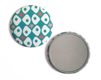 Round Pocket mirror 'Eloiseau' / 'Eloiseau' - creation of Ginger in may mirror Pocket