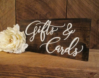 Gifts and cards sign, rustic wedding sign, wedding gift sign, gifts sign, cards sign, card sign, wedding reception sign, wood wedding sign