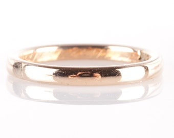 Vintage 1910's 14k Yellow Gold Wedding Band / Ring 3.1g Size 7.25