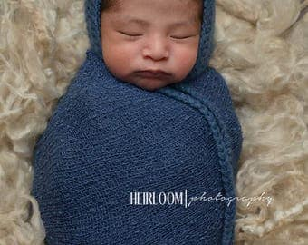 Basic Knit Bonnet Newborn Photo Prop-MADE TO ORDER