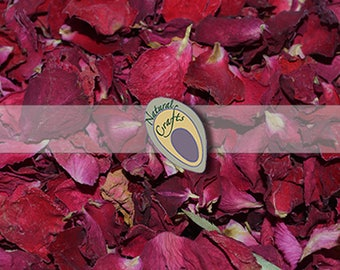 Luxury Dried Red Rose Petals - suitable for confetti and crafting