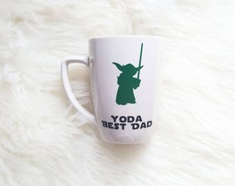 Yoda best dad mug/yoda best dad/yoda best/star wars mug/star wars cups/yoda mug/star wars fathers day/star wars gifts for him/best dad mug