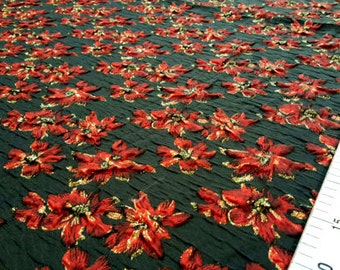 Black and red flower jacquard fabric #149
