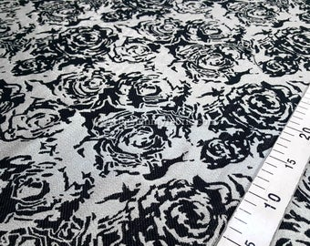 Black roses and gold jacquard fabric #929