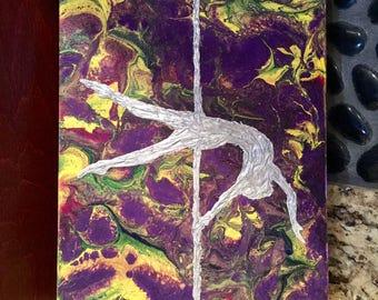 "Pole dance 3D canvas art 8""x10"""