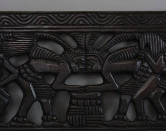 Carved African Decorative Panel