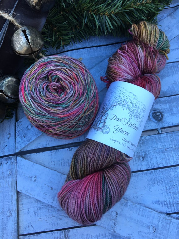 Vintage Candy,Drusilla Sock Base,Hand Dyed Yarn,Sock Yarn,Fingering Weight,80/20 Superwash Merino Nylon,2 ply,100 grams,GIft for Knitter
