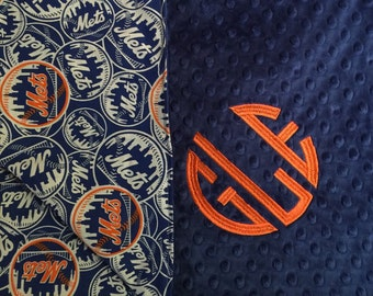Baseball Sport Blanket Company Not Affiliated with MLB Mets New York