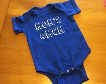 Custom Vinyl Mom's Man Crush Monday Baby Bodysuit-New Baby-Love-Mother-Son-MCM-One Pice Shirt With Snaps-Newborn-Baby-Hashtag