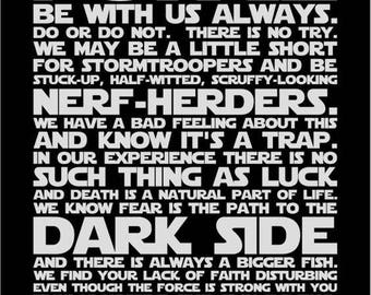 SVG, we do starwars, starwars family, starwars print, starwars  house, silhouette,  cut file, cricut, silhouette, instant download