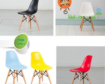 Eames Style Kids Chair in Various Colours Dining Chair Playroom Scandinavian Chair White Black Red Pink DSW DAW Chair