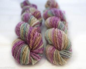 Blue faced leicester hand spun yarn - muted rainbow