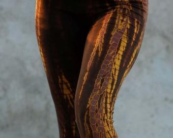 Batic Leggings Star Brown