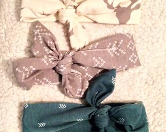 Baby head band, Baby Head wrap, Baby Tieknot Headbands,  BabyGifts