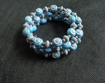 Teal Memory Wired Bracelet