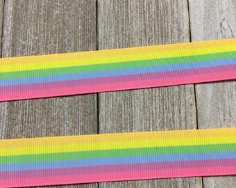 Rainbow Ribbon, Colorful Ribbon, Pastel Rainbow Ribbon