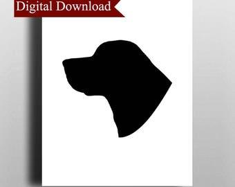 Labrador Silhouette DIGITAL Print Download