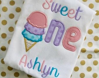 Ice Cream Birthday Party Shirt, Sweet One, 1st Birthday Ice Cream, Girls Ice Cream Shirt, Boys Ice Cream Shirt, Ice Cream Birthday Shirt