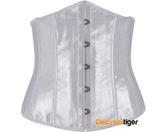 White Corset Satin Style Pointed Underbust DTS00733