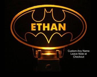Personalized Batman Night Light