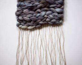 Purple Grey Puffy Roving Weaving